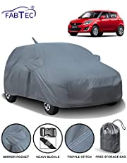 Fabtec Car Body Cover for Maruti Swift (2012-2017) with Mirror Antenna Pocket & Storage Bag Combo (Heavy Duty)