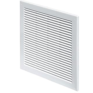 Ventilation Grille 300x300 with fly net. White high quality plastic(TRU-10)
