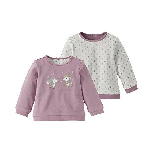 BORNINO Wende-Shirt langarm Baby-Top Babykleidung, Größe 62/68, lila