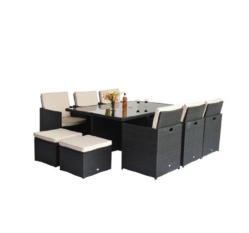 Polyrattan Gartenmöbel 27 Tlg Rattan Gartenset Essgruppe Lounge