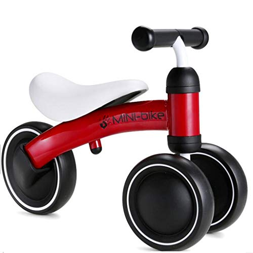 Los niños no pedalean Las Bicicletas de Equilibrio Coche eléctrico para bebés de 1 a 3 años Scooter Regalo de Bicicleta de conducción para niños Paseo en Triciclo en automóviles (Color : Red)