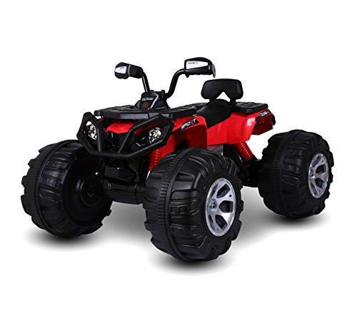 Quad elettrico rosso lt870 per bambini atv monster 12 v luci e suoni 5-8 km/h. media wave store ®