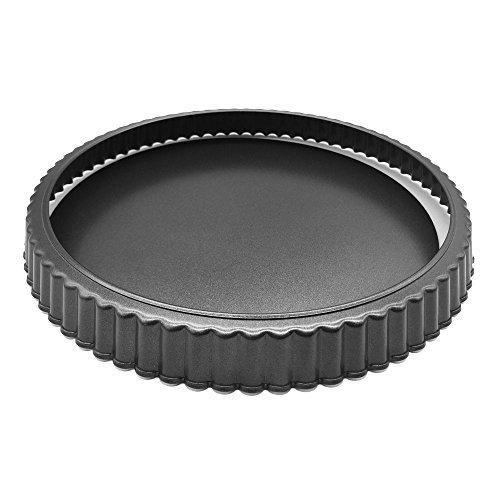 homow 25,4cm Aluminiumguss Tart, mit abnehmbarem Boden, abnehmbarer lose unten Quiche Pfanne, Pie Pfanne NS25-10