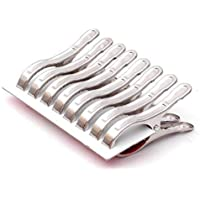 RJ Rojeno Stainless Steel Multipurpose Heavy Quality Firm Grip Jumbo Cloth Clips (Set of 36 Pcs)