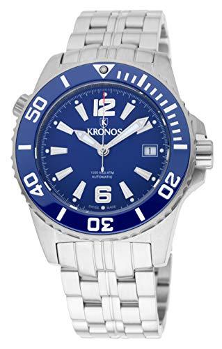 KRONOS - K300 Automatic Ceramic Blue 736N2.8.65 - Reloj Diver de Caballero automático,...