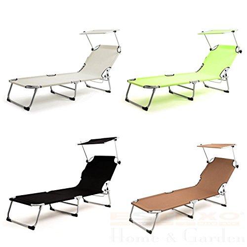 ESTEXO Sonnenliege Gartenliege Strandliege Relaxliege Dreibeinliege Camping
