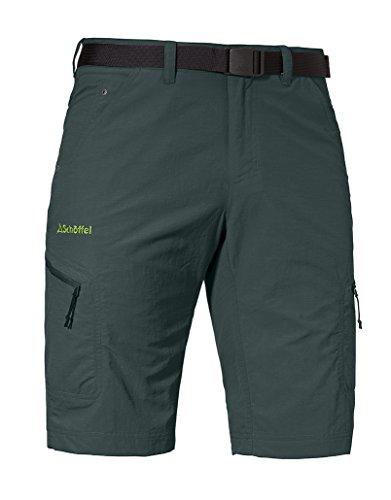 Schöffel Shorts Silvaplana2 Herren Hose, vielseitige Wanderhose mit separatem Gürtel, komfortable Outdoor Hose mit praktischen Taschen, grün,50 - Klettern Nylon Shorts