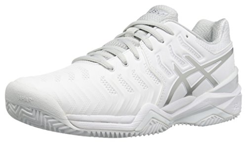 ASICSGEL-Resolution 7 Clay Court-W - Clay-Resolution 7 Clay Court Donna, Bianco (White/Silver), 35.5 EU
