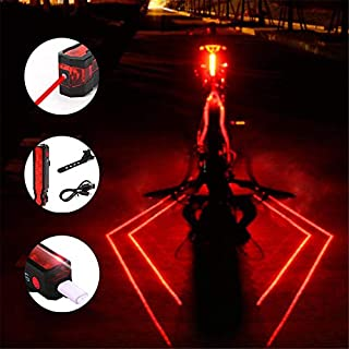 Plextone 3 Modes Spider Rear LED Taillight (1PCS) Night Run Backpack Camping Ideal for Any Road Bike Decoration. (Diamond)