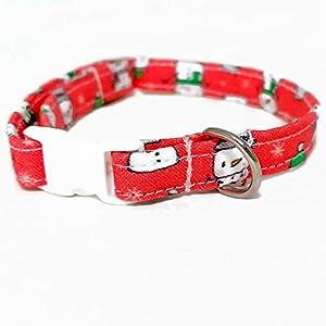 Katzenhalsband – Schneemann – Rot