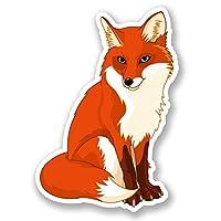2 x Fox Window Cling Sticker Car Van Campervan Glass #5677