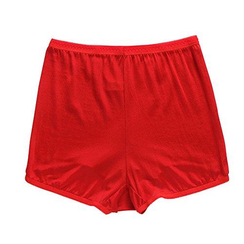Sisann 100% Seide Hoch taillierte Slip Damen Unterhosen Rot