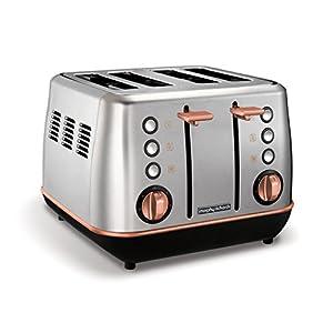 Morphy Richards Evoke 4 Slice Toaster Special Edition 240116 Brushed and Rose Gold Four Slice Toaster