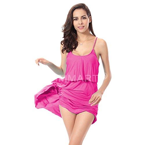 Andyshi donne sexy della croce fascette cover-up spiaggia Capestro top con balze Rose
