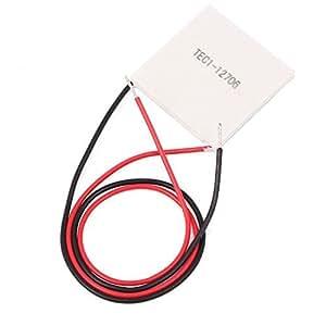 Neuftech TEC1-12705 Peltier Element, Thermoelektrischer Heatsink Modul, Cooler Kühlen Kühler 12V, 5,8A,58-65W max.