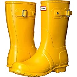 Hunter Original Short Wellington Boots - Botas de Caucho para Mujer, Color Amarillo, Talla 37