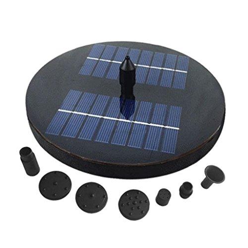 Unbekannt MagiDeal Springbrunnen Wasserpumpe mit Solar Panel für Garten Teich Oder Aquarium - Rund