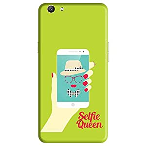 Bhishoom Designer Printed Back Case Cover for Oppo F1s, Oppo A59 (Selfie Queen Funny Humour Pattern For Her)