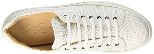 GOLD BROTHERS Wimbledon, chaussures à lacets homme Bianco