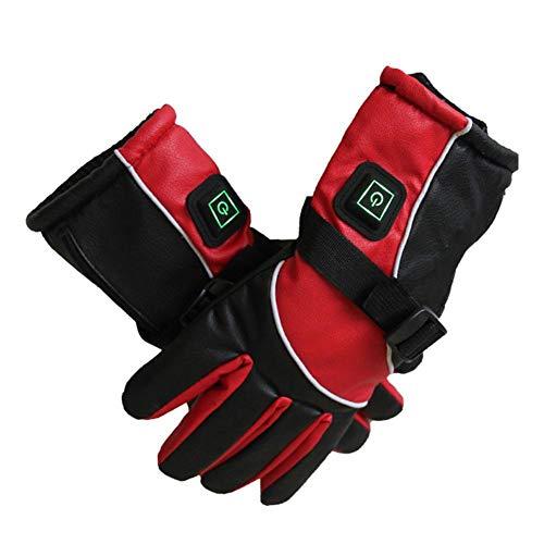 jaspenybow Elektrisch beheizte Handschuhe, beheizte Handschuhe für USB-Elektromotorräder, atmungsaktive Outdoor-Handschuhe, Batterien zum Wind- und Schneefischen, wiederaufladbares Wandern