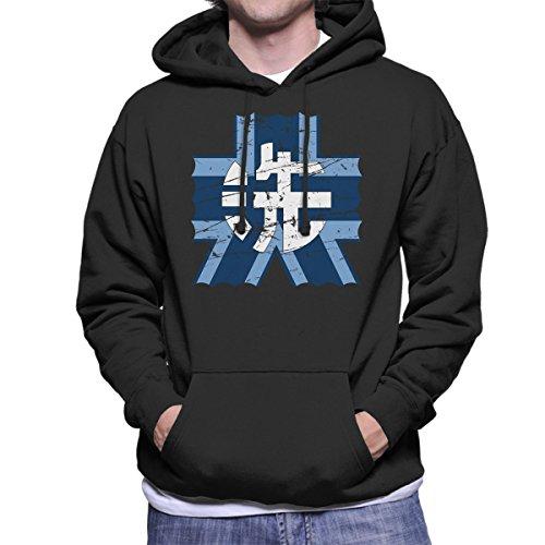 Cloud City 7 Ooarai Girls High School Girls Und Panzer Distressed Men's Hooded Sweatshirt -