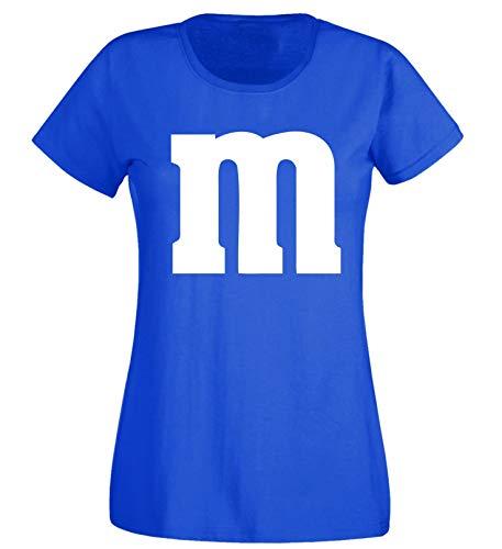 Nation Damen T-Shirt Rundhals Karneval & Fasching JGA - Gruppen-Kostüm M Aufdruck - MM (XL, - Gruppen Kostüme Karneval