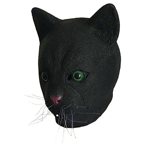 Queenshiny® Latex Tiermaske Halloween-Party-Kostüm (Katze Gesicht Kostüme)