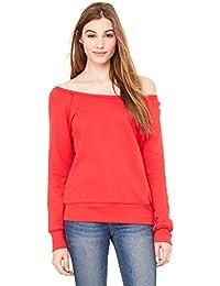 Bella + Canvas Womens Sponge Fleece Wide Neck Sweatshirt (7501)