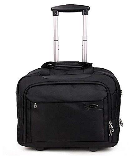 Jiahe Leichte Business-Koffer Pilotenkabinenkoffer Laptop-Rollengeschäfts-Trolley-Computer-Aktenkoffer Carry On Roller Cases-Black