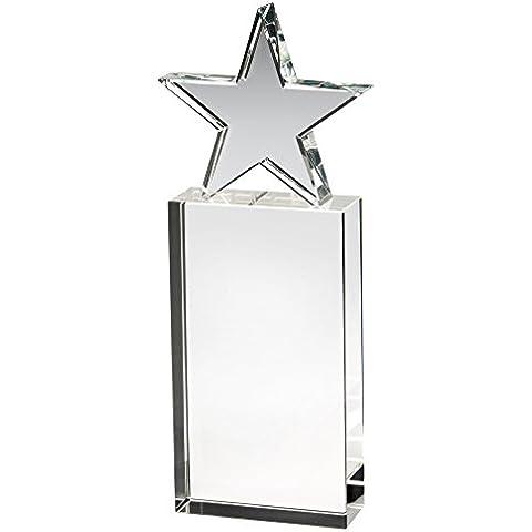 Claro Cristal Estrella Trofeo en bloque, 10 pulgadas