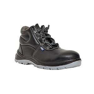 Allen Cooper 1008 Hi-Ankle Safety Shoe, Black