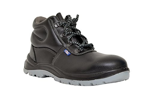 Allen Cooper 1008 Hi-Ankle Safety Shoe, Black