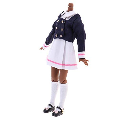 Baoblaze 21cm Flexible 19 Gelenke Nackt Körper mit Kleidung Anzug Für 12 Zoll Weibliche Puppen - # C (Nackten Körper Anzug)