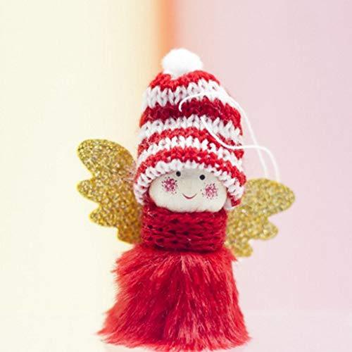 Ears Weihnachtsbaum Anhänger Mini niedlichen Plüsch Engel Mädchen Weihnachtsbaum Anhänger Ornamente Hauptdekoration Weihnachtsbaum hängen Ornamente Dekorationen Anhänger Home Decor
