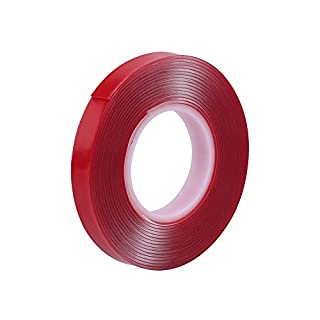Double Sided Adhesive Tape, ABEDOE Acrylic Adhesive Foam Tape for Car&Cell Phone Repair (Red)