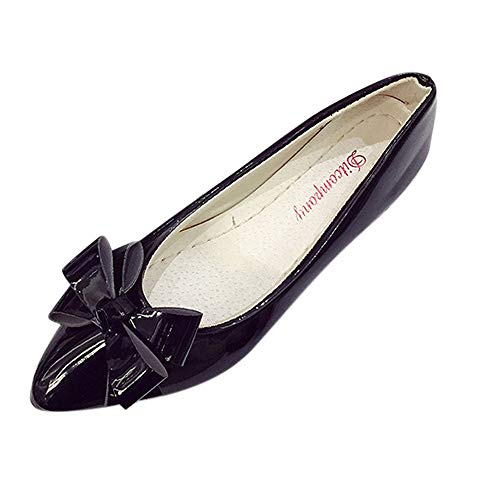 MOIKA Frauen Tanzschuhe Ballsaal Latein Schuhe, Mode Bogen Spitze Zehe Dame Mädchen Wohnungen Frau Flache Schuhe Ballerinas