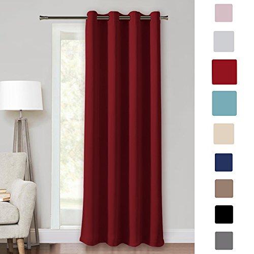 Pony dance tende rosse da sole isolante termiche per camera da letto finestre salotto cucina ufficio (l 140 x a 260 cm, un pannello)