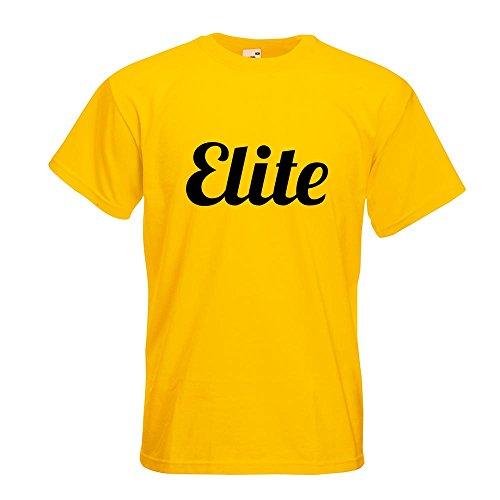 KIWISTAR - Elite T-Shirt in 15 verschiedenen Farben - Herren Funshirt bedruckt Design Sprüche Spruch Motive Oberteil Baumwolle Print Größe S M L XL XXL Gelb
