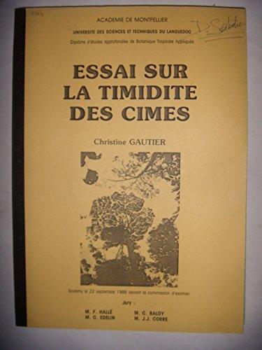 Botanique tropicale: Essai sur la timidité des Cimes, 1986, BE