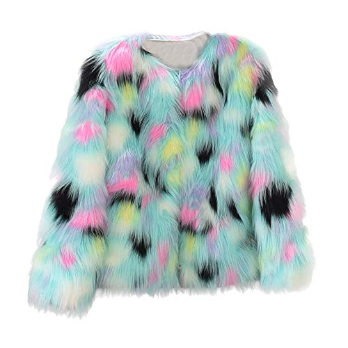 JURTEE Damen Winter Warm Mantel Jacke,Faux Pelz Mantel -