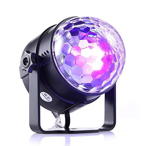 Lila Disco Light Ball Stroboskope Licht, LED Disco Ball Lichter mit Fernbedienung Bühnenlampe für Festival Bar Club Party Hochzeit