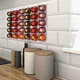 R&R SHOP - Porte-capsules pour Nespresso, à coller sur n'importe quelle surface type mur, réfrigérateur et compatible avec ma