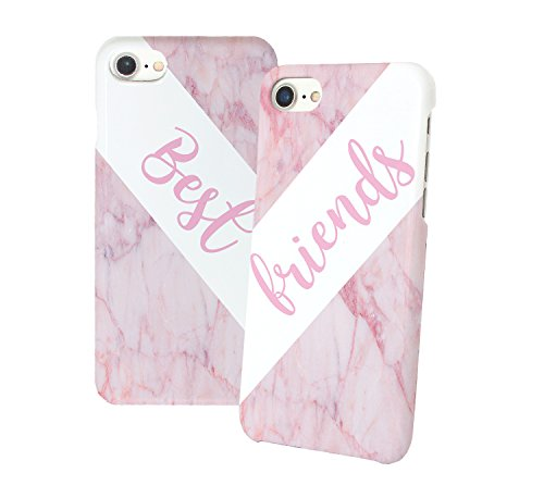 Best Friends Pink Marble Beziehung Relationship Freundin Girlfriend Liebe BFF BAE Best Friends Love Schutzhülle aus Hartplastik Phone Case Handy Hülle Für Iphone 6 6s 7 7plus 8 X
