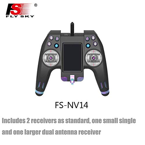 FlySky 2.4G 14CH NV14 Transmitter Remote Control with Receiver for RC Helicopter Transmitter FPV Drone rc Car