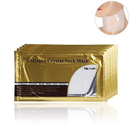 10x Neck Pad/Anti-Falten Hals Pad, Collagen Hals Maske gegen Dekolleté Falten Anti Wrinkle für einen faltenfreieren strafferen Hals