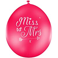 Miss to Mrs ® Hen Do Party Balloons (Sophisticated Classy Bride Quality) JC1070