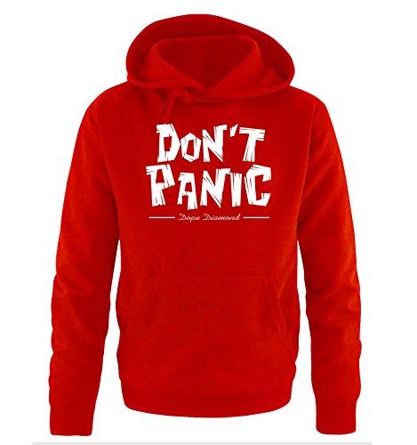 Comedy Shirts - DON'T PANIC - Dope Diamond - Uomo Hoodie cappuccio sweater - taglia S-XXL different colors rosso / bianco