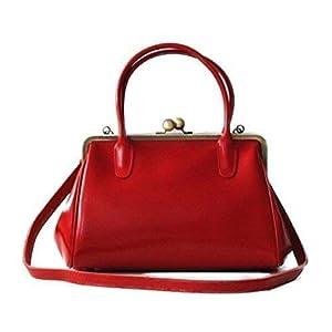 """Leder Handtasche/Henkeltasche""""Sophie"""" in rot, im Vintage Style"""