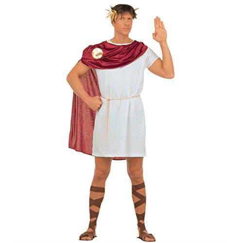 Cäsar Römerkostüm L (52) Römischer Kaiser Herrenkostüm Toga Grieche Faschingskostüm Spartakus Senator Karnevalskostüm Eros Antike Mottoparty Verkleidung Karneval Kostüme Männer (Römischer Senator Toga)