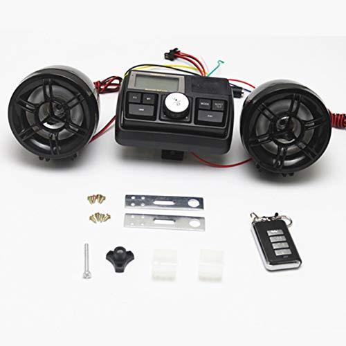 Motorrad FM Radio, Anti Dieb 12V Wasserdichte USB TF MP3 Player Audio Soundsystem Stereo Lautsprecher mit Fernbedienung, für Motorrad